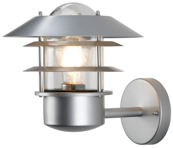 Elstead Helsingor Silver 1 Light Outdoor Wall Lantern Stainless Steel