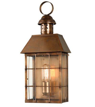 Elstead Hyde Park Large 1 Light Solid Brass Outdoor Wall Lantern