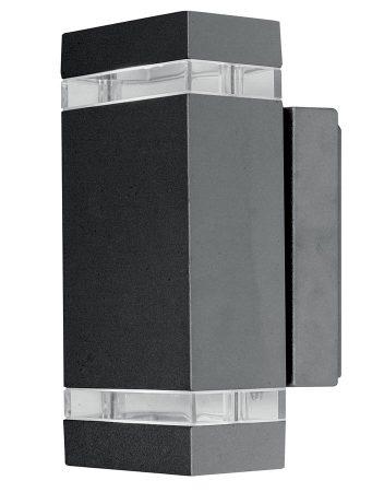 Elstead Jannik 2 Light LED Outdoor Wall Up & Down Light Dark Grey