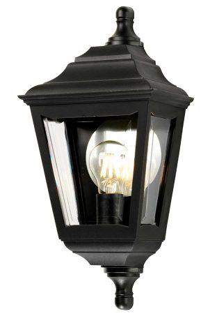Elstead Kerry Corrosion Proof Flush Outdoor Wall Lantern Black