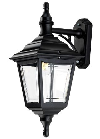 Elstead Kerry Corrosion Proof 1 Light Outdoor Wall Lantern Black