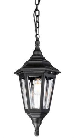 Elstead Kinsale Corrosion Proof 1 Light Hanging Porch Lantern Black