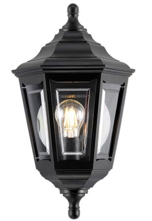 Elstead Kinsale Corrosion Proof Flush Outdoor Wall Lantern Black