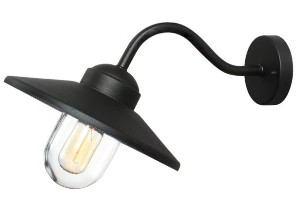 Elstead Klampenborg 1 Lamp Stainless Steel Outdoor Wall Light Black