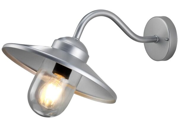 Elstead Klampenborg 1 Lamp Stainless Steel Outdoor Wall Light Silver