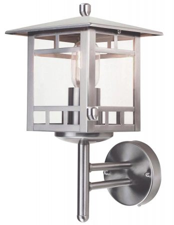 Elstead Kolne 1 Light Outdoor Wall Lantern Stainless Steel