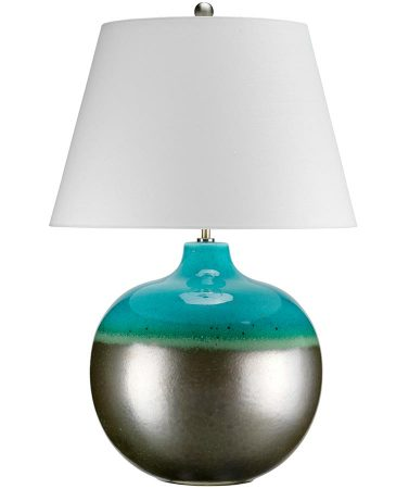 Elstead Laguna Large Glazed Ceramic Table Lamp Cream Shade