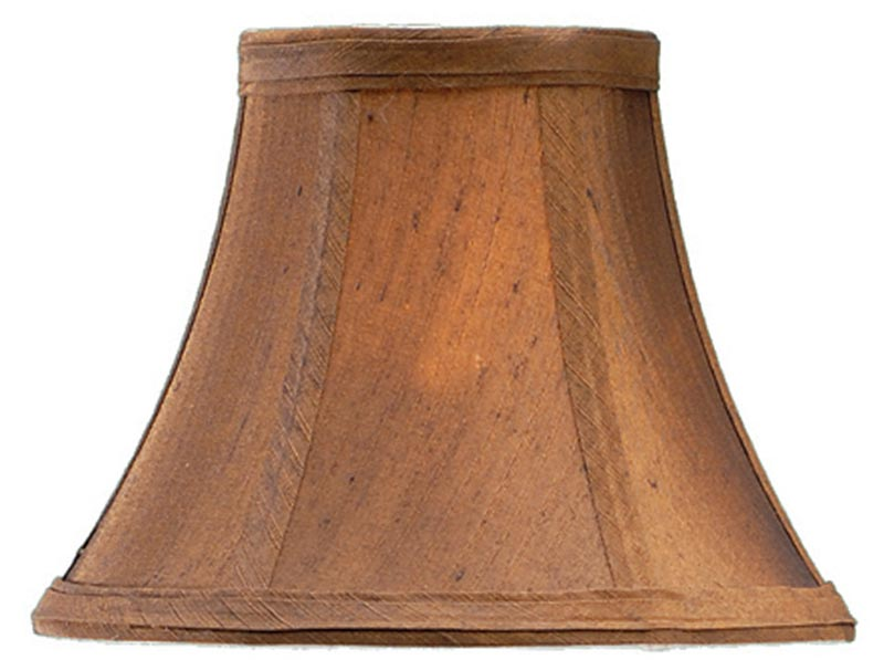 Silk Lamp Shades For Wall Lights : Coniston Brown Faux Silk Clip On Cotton Wall Light / Chandelier Shade