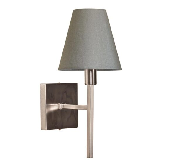 Elstead Lucerne Single Wall Light Brushed Nickel Grey Shade