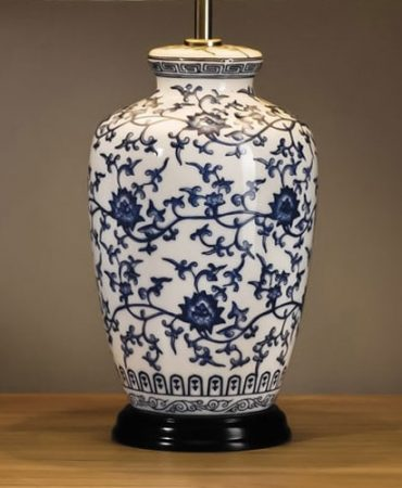 Blue And White Ginger Jar Table Lamp Base Only