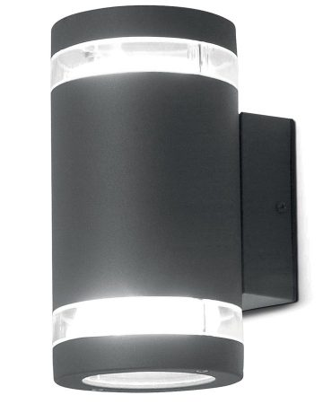 Elstead Magnus 2 Light Outdoor Wall Up & Down Light Graphite