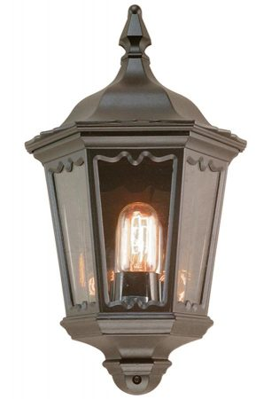 Elstead Medstead Exterior Flush Half Wall Lantern Black IP43