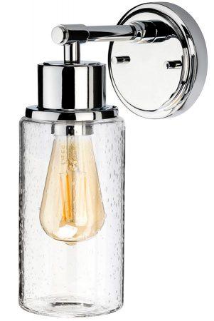 Elstead Morvah Bathroom Wall Light Polished Chrome Bubble Glass