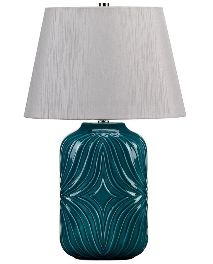 Elstead Muse Turquoise Ceramic Table, Turquoise Ceramic Lamp