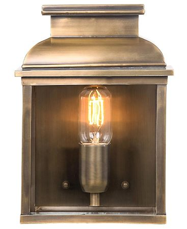 Elstead Old Bailey 1 Light Solid Brass Outdoor Wall Lantern