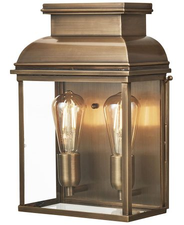 Elstead Old Bailey 2 Light Solid Brass Large Outdoor Wall Lantern