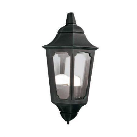 Elstead Parish 1 Light Flush Outdoor Wall Half Lantern Black