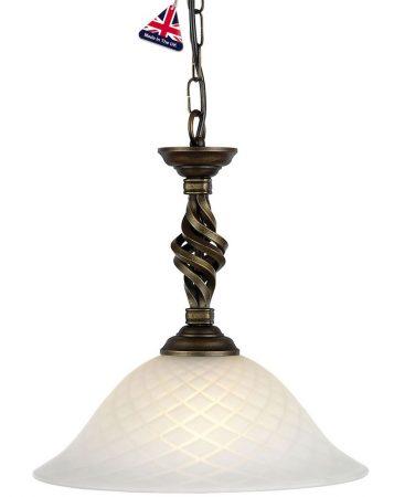 Elstead Pembroke Black & Gold Wrought Iron Ceiling Pendant Light