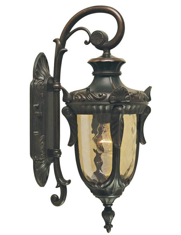 Elstead Philadelphia 1 Light Medium Outdoor Wall Lantern Old Bronze Down