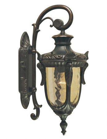 Elstead Philadelphia 1 Light Small Outdoor Wall Lantern Old Bronze Down