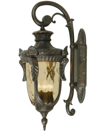 Elstead Philadelphia 3 Light Large Outdoor Wall Lantern Old Bronze Down