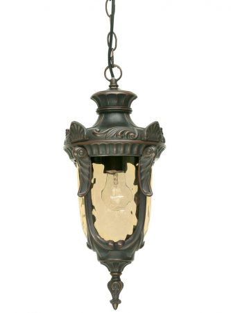 Elstead Philadelphia 1 Light Outdoor Porch Chain Lantern Old Bronze