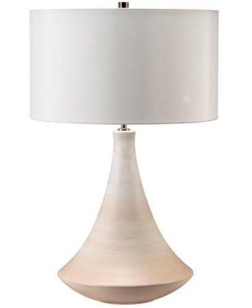 Elstead Pinner 1 Light Cream Ceramic Table Lamp Cream Shade