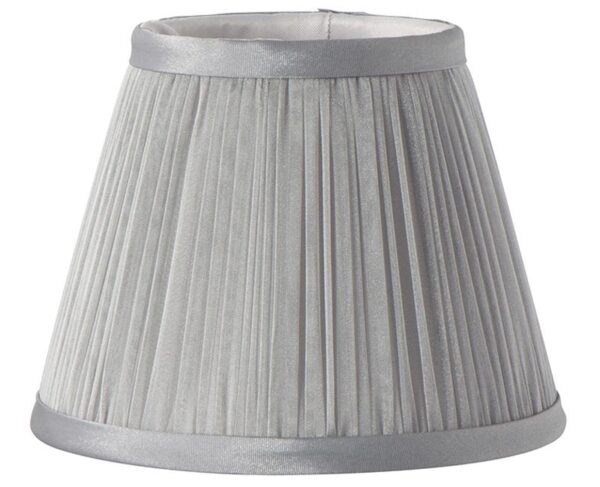 Grey Chiffon Pleated 6″ Clip On Chandelier / Wall Light Lamp Shade
