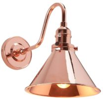 Elstead Provence Single Wall Light Polished Copper Retro Style