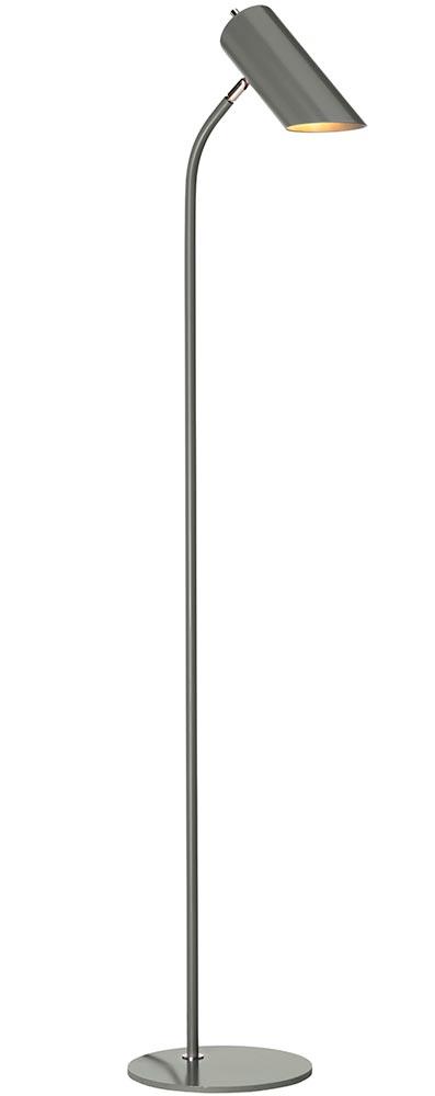 Elstead Quinto 1 Light Floor Lamp Dark Grey Polished Nickel