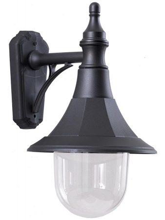 Elstead Shannon 1 Light Rust Proof Outdoor Wall Down Lantern Black