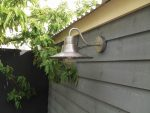 Elstead Sheldon 1 Light Outdoor Wall Lantern Antique Nickel Solid Brass