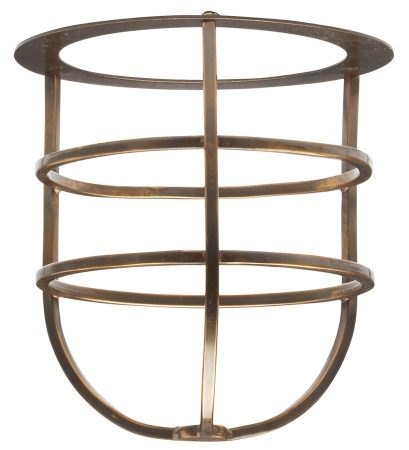 Elstead Shade Cage Accessory Sheldon & Somerton Aged Solid Brass