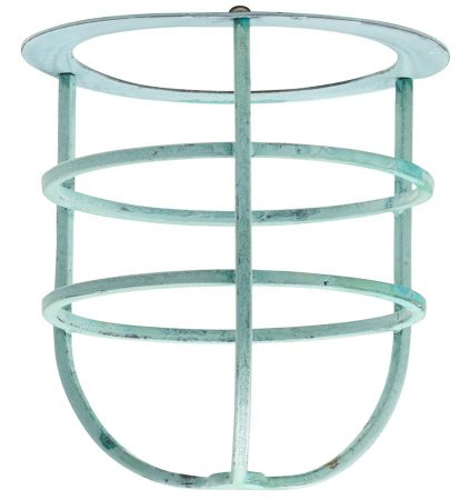 Elstead Shade Cage Accessory Sheldon & Somerton Verdigris Solid Brass