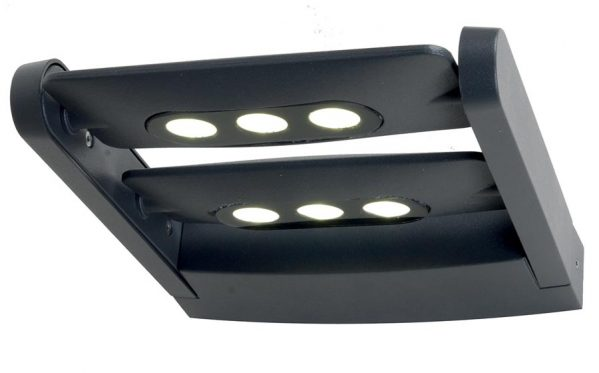 Elstead Sigmund 6 LED Outdoor Wall Light Graphite Ultra Modern