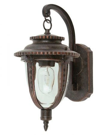 Elstead St Louis 1 Light Medium Outdoor Wall Lantern Weathered Bronze