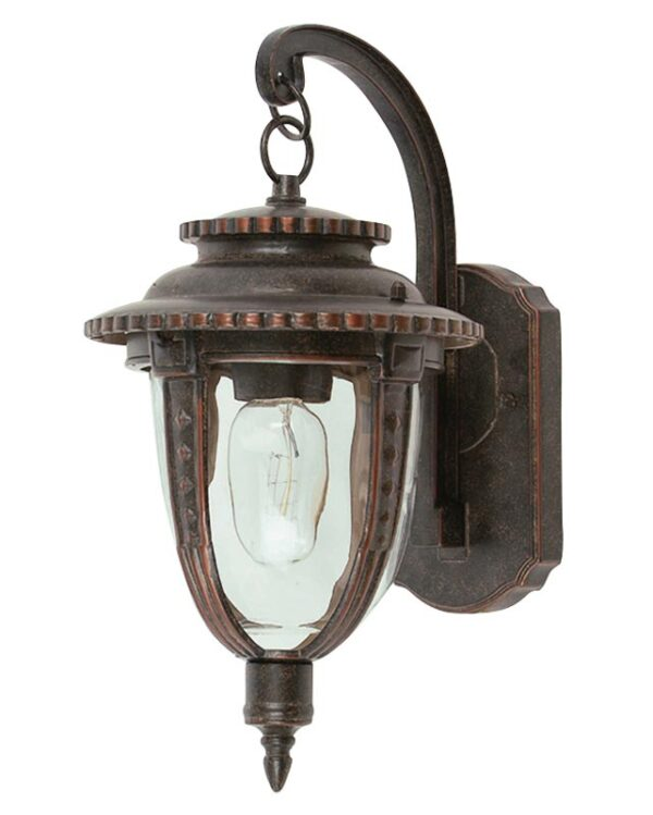 Elstead St Louis 1 Light Medium Outdoor Wall Lantern Weathered Bronze