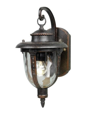 Elstead St Louis 1 Light Small Outdoor Wall Lantern Weathered Bronze