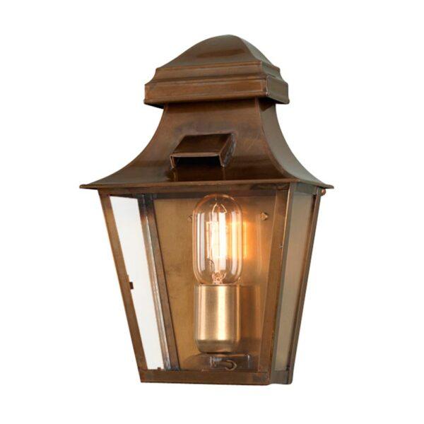 Elstead St Pauls Handmade 1 Light Solid Brass Outdoor Wall Coach Lantern