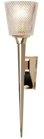 Elstead Verity LED Large Bathroom Wall Light Torchiere Polished Gold