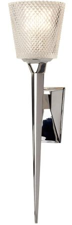 Elstead Verity LED Large Bathroom Wall Light Torchiere Polished Chrome