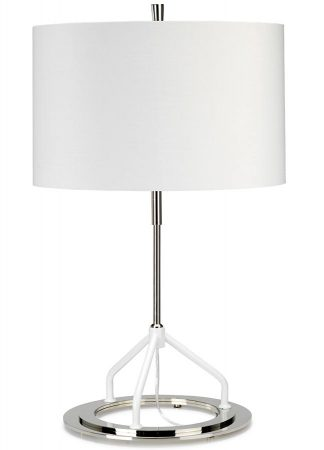Elstead Vincenza 1 Light Table Lamp White Polished Nickel