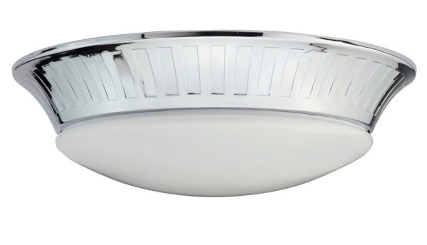 Elstead Whitby Flush Mount 1 Light Bathroom Ceiling Light Chrome