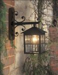 Elstead Winchester Scrolled Mount Outdoor Wall Lantern Black