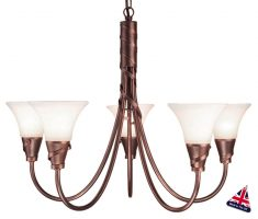 Emily UK Handmade Copper Patina 5 Light Chandelier