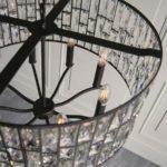 Endon Belle 8 Light Crystal Drum Ceiling Pendant Dark Bronze