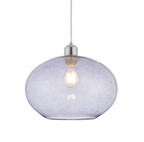 Endon Dimitri Easy Fit Grey Smoked Bubble Glass Pedant Lamp Shade