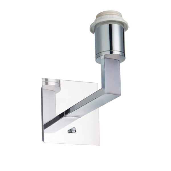 Norton switched bedside wall light chrome bracket only white background