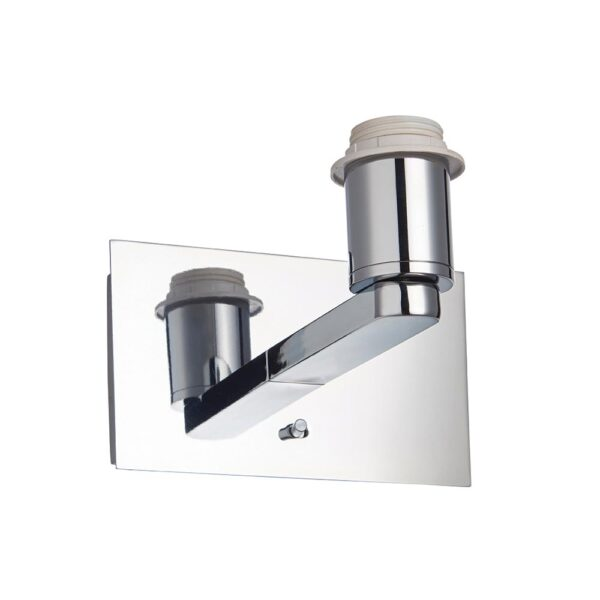 Issac switched bedside USB wall light chrome bracket only white background