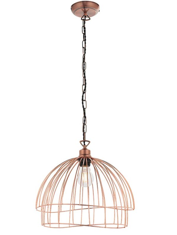 Jericho Copper Wire Basket Ceiling Pendant Light Shade
